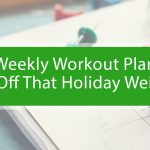 Calendar with weekly workout plan