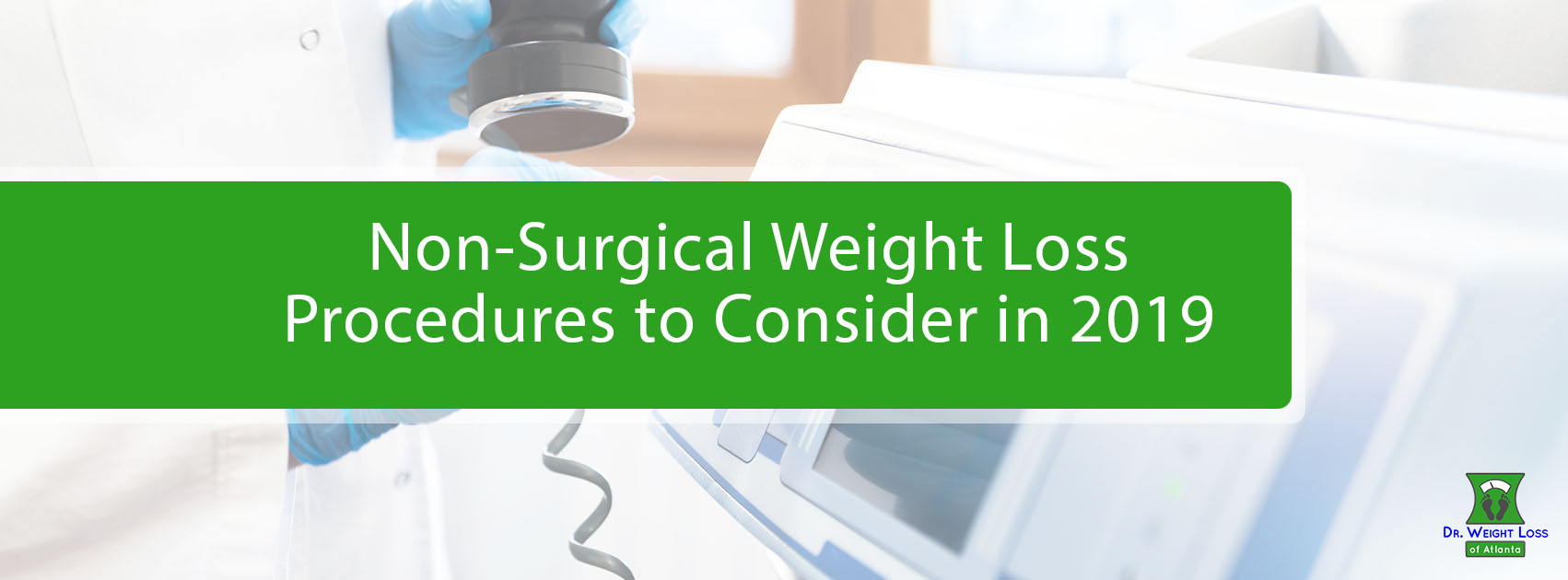 Doctor performing non-surgical weight loss procedure.