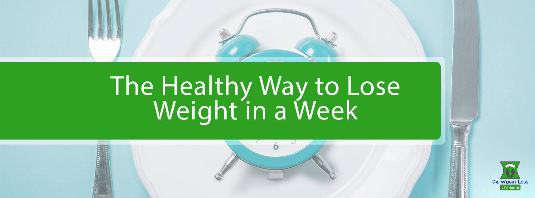 A plate setup with an alarm clock on it symbolizing quick weight loss.